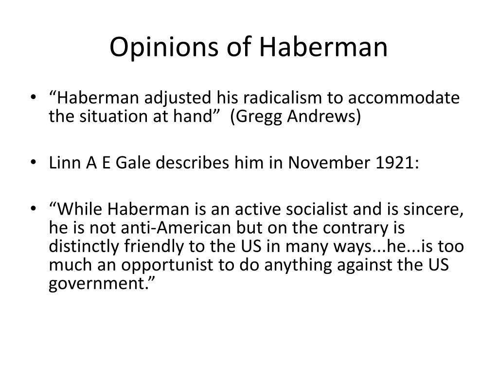 Opinions of Haberman