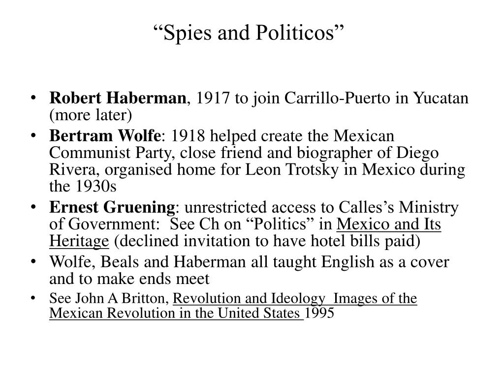 """""""Spies and Politicos"""""""