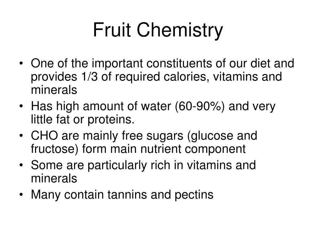 Fruit Chemistry