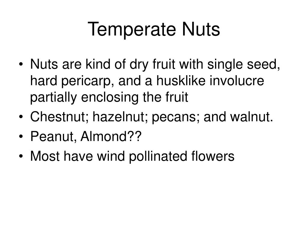 Temperate Nuts