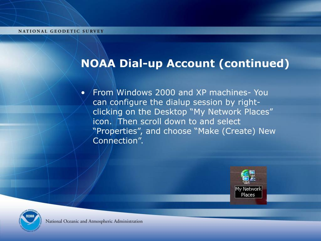 NOAA Dial-up Account (continued)
