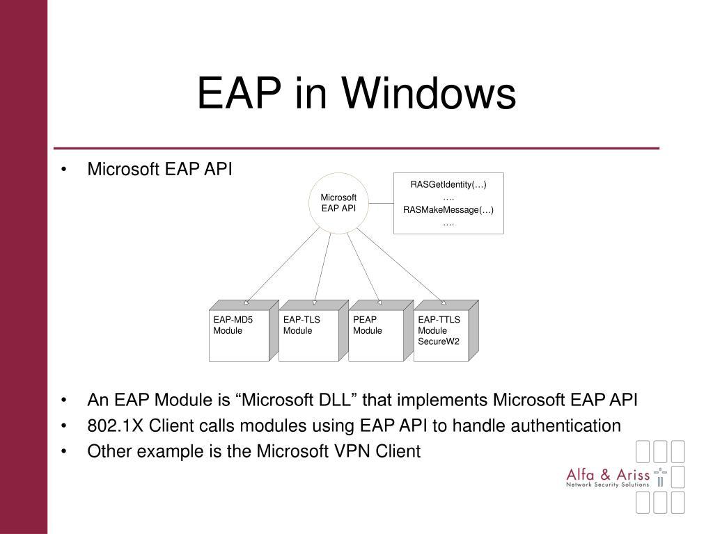 EAP in Windows