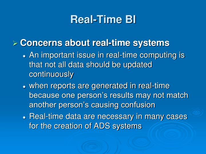 Real-Time BI