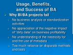 usage benefits and success of ba4