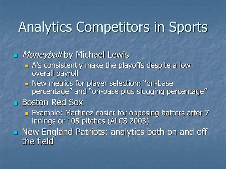 Analytics Competitors in Sports