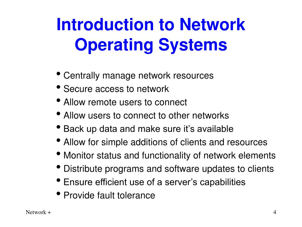 Introduction to Network Operating Systems