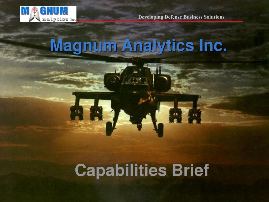 Magnum Analytics Inc.