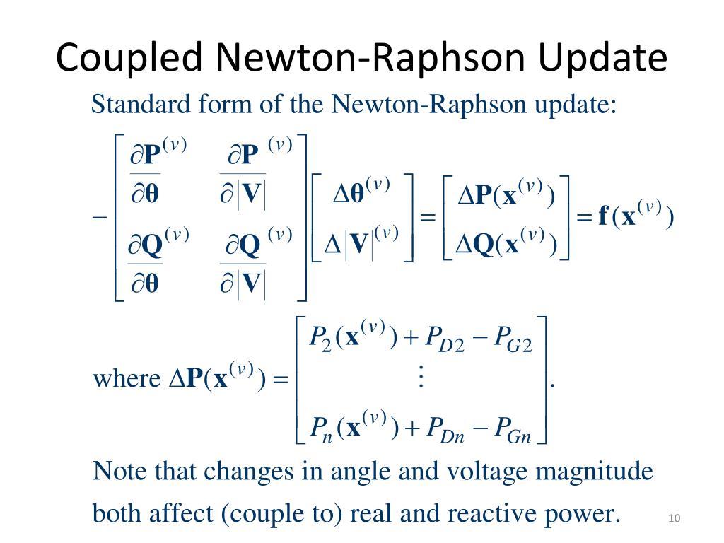 Coupled Newton-Raphson Update