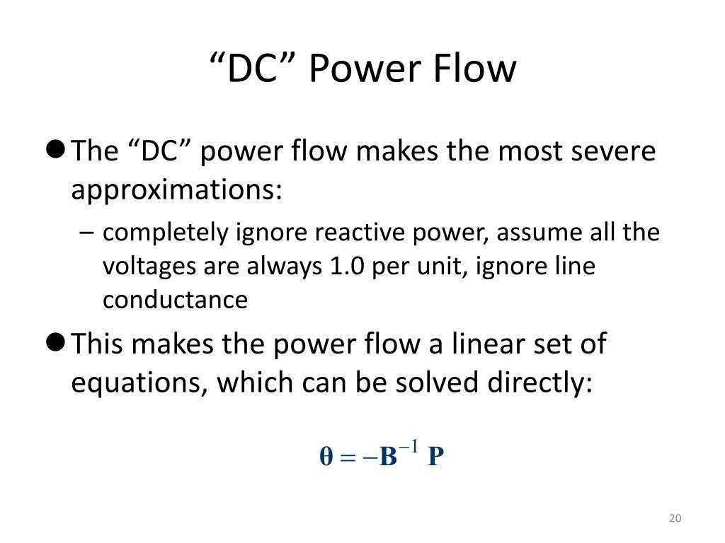 """DC"" Power Flow"