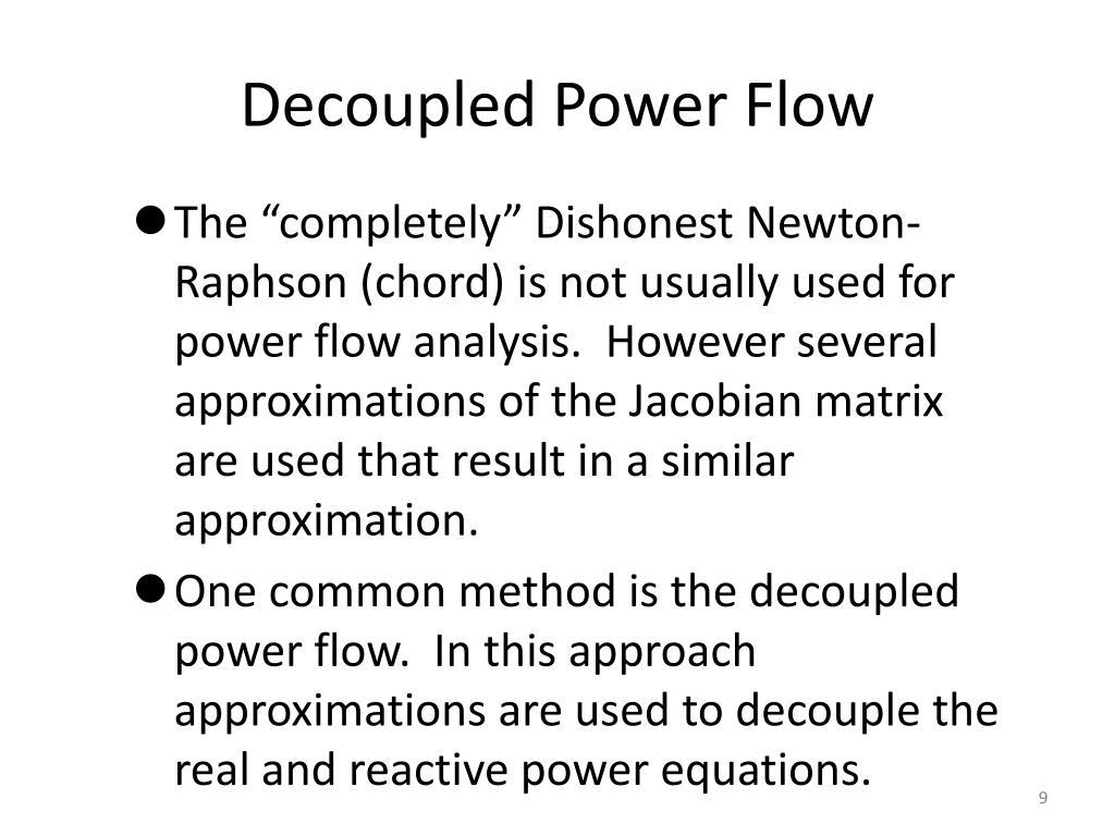 Decoupled Power Flow