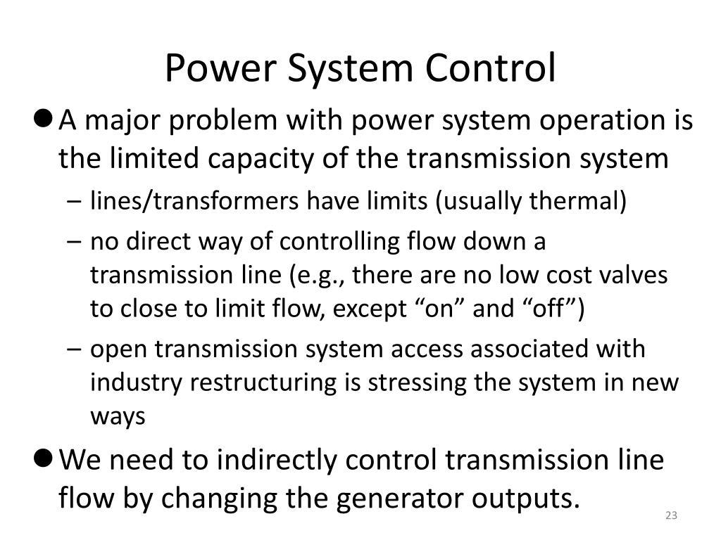 Power System Control