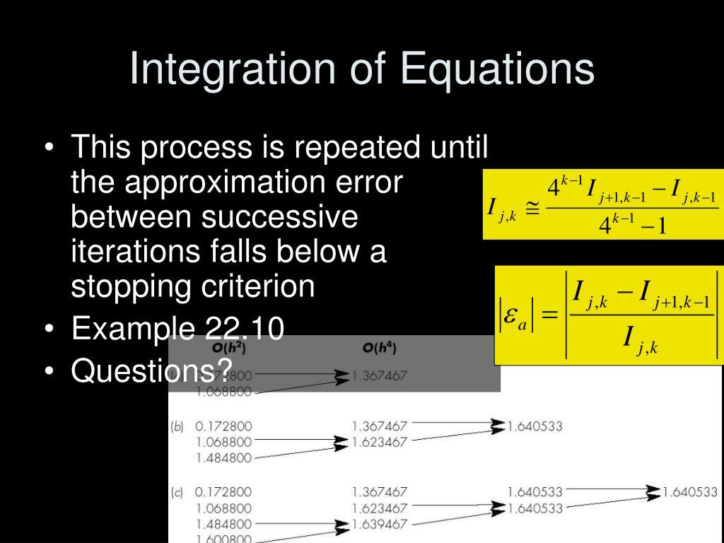 Integration of Equations