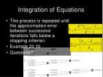 integration of equations17