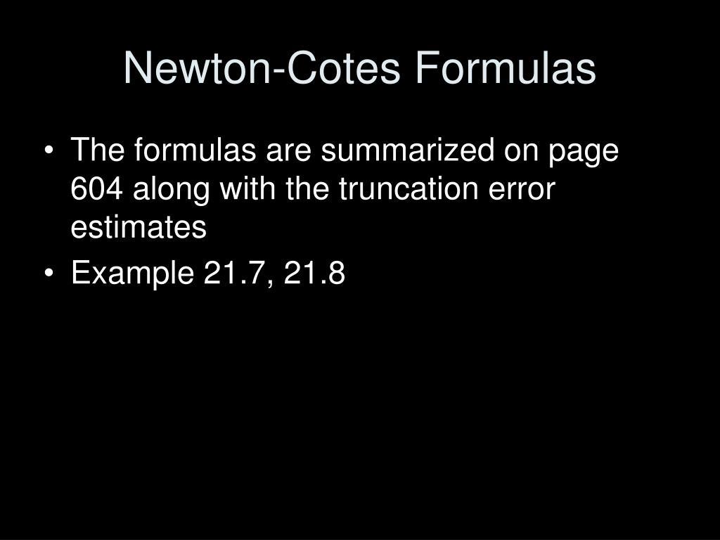 Newton-Cotes Formulas