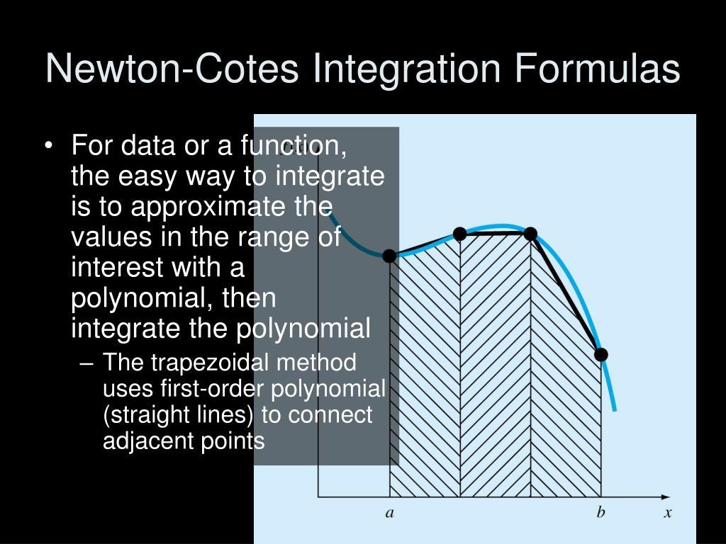 Newton-Cotes Integration Formulas