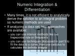 numeric integration differentiation