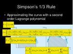 simpson s 1 3 rule