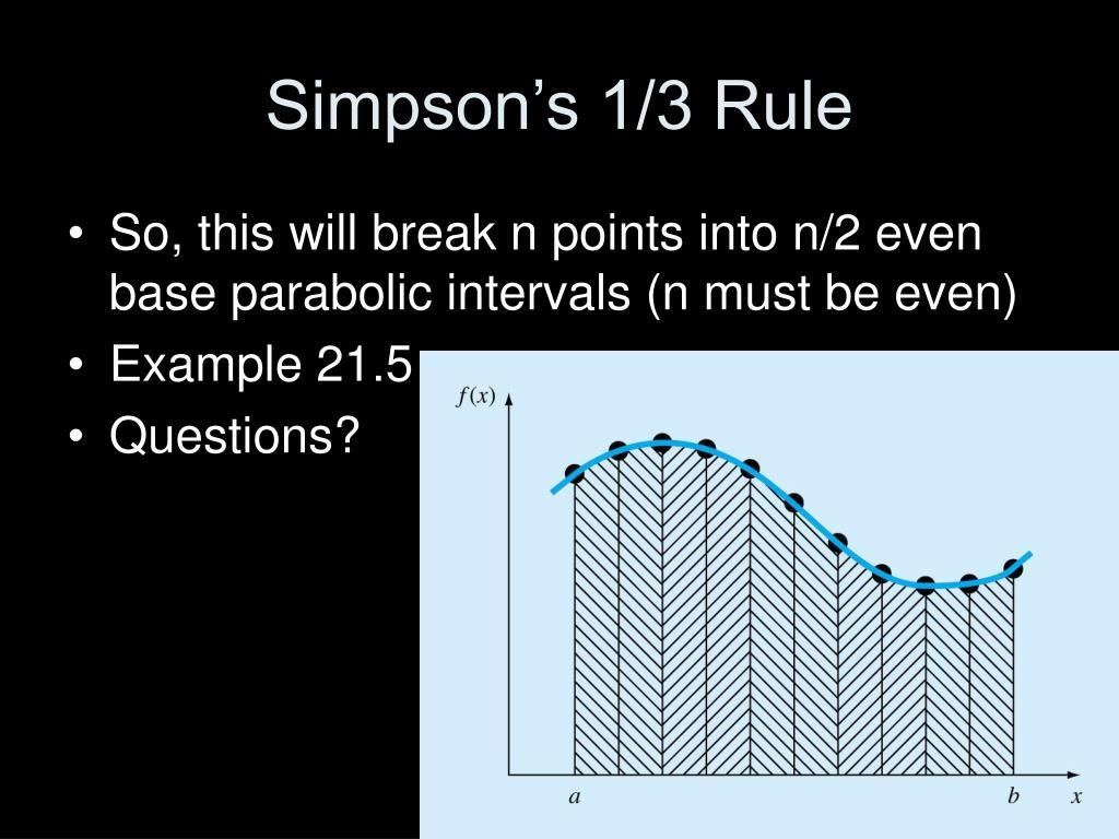 Simpson's 1/3 Rule