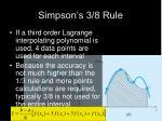simpson s 3 8 rule