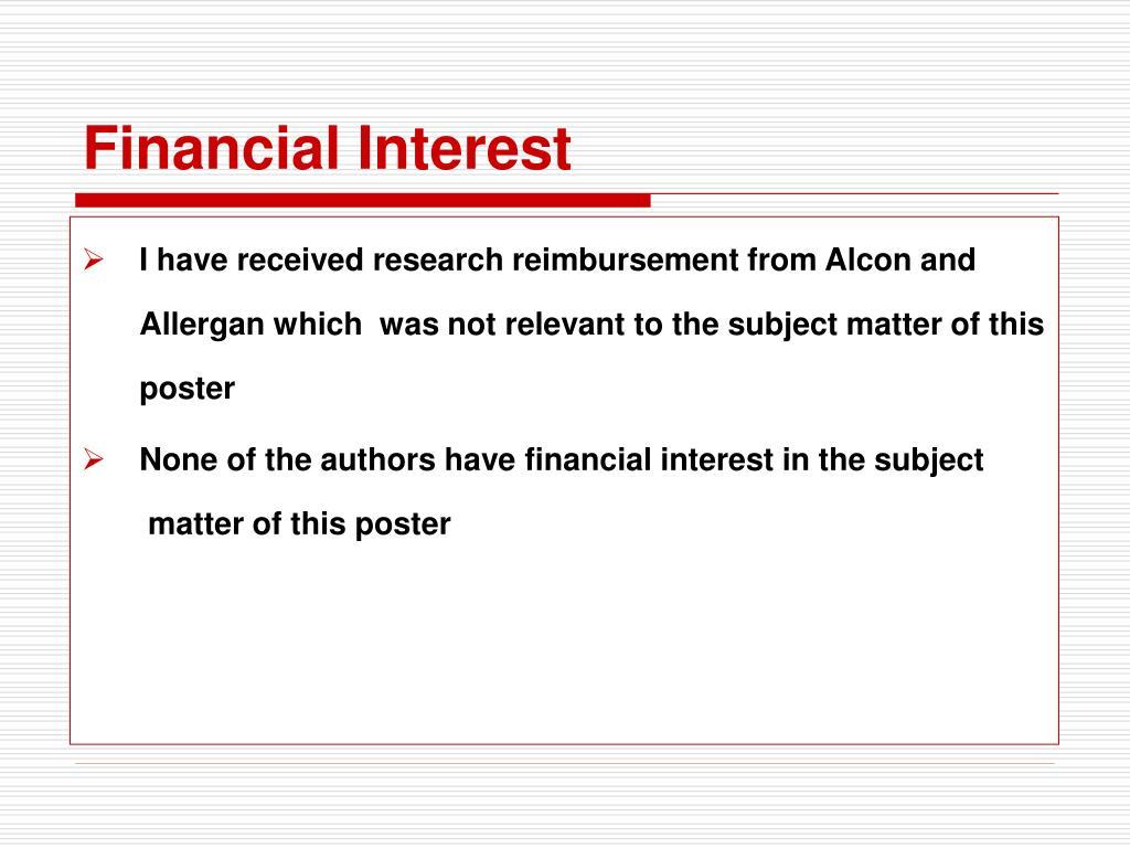 Financial Interest