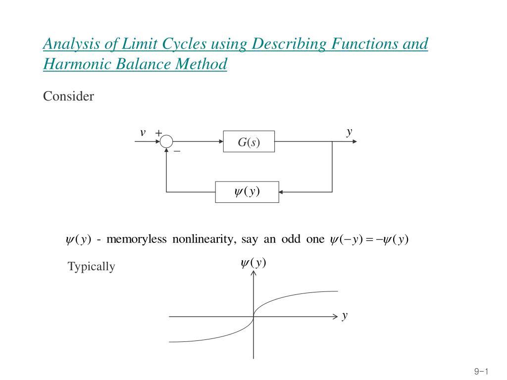 analysis of limit cycles using describing functions and harmonic balance method