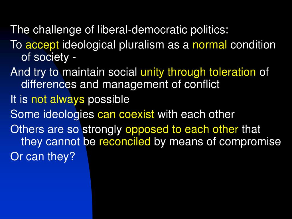 The challenge of liberal-democratic politics: