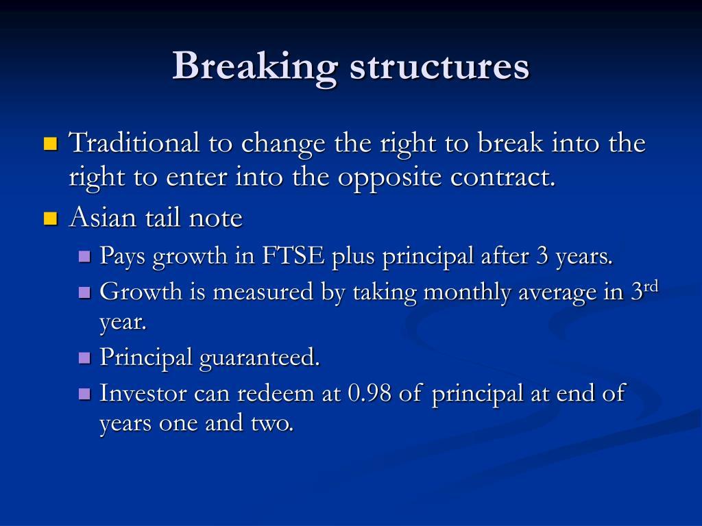 Breaking structures