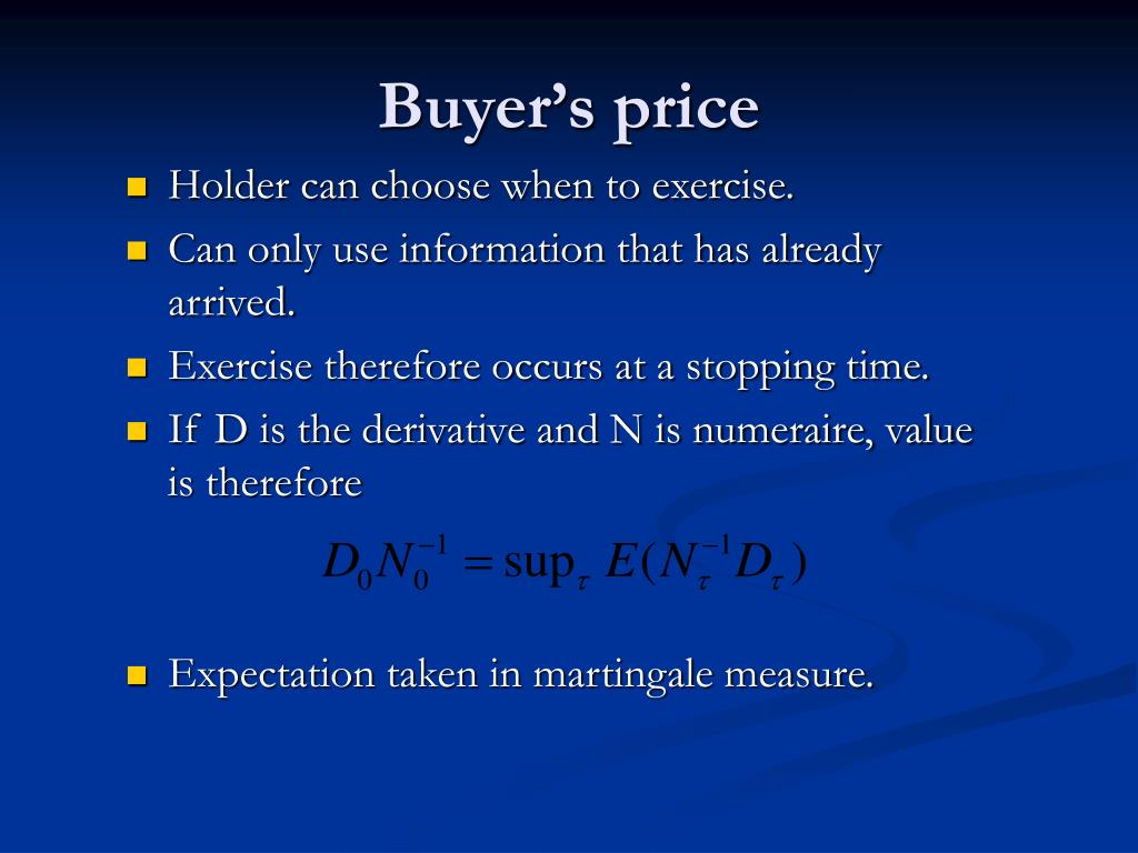 Buyer's price