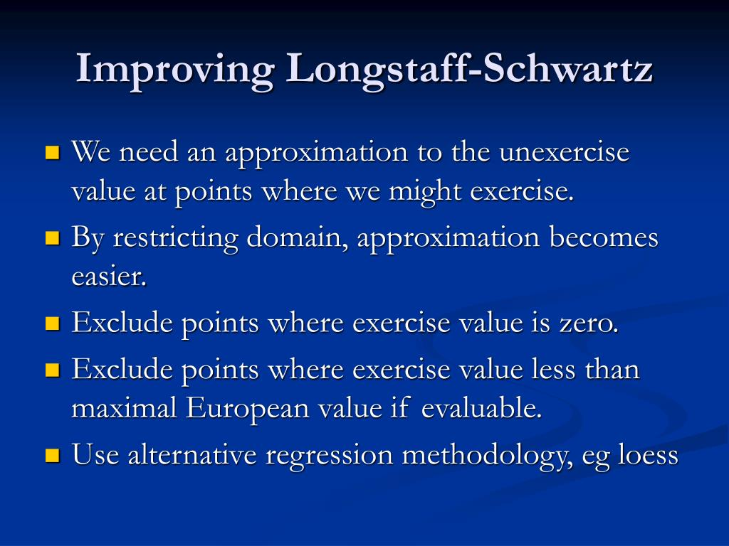 Improving Longstaff-Schwartz