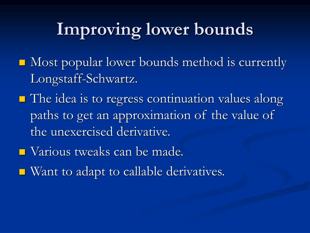 Improving lower bounds