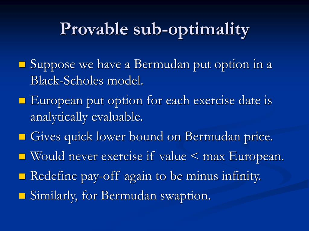 Provable sub-optimality