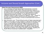 inclusive and shared growth approaches cont