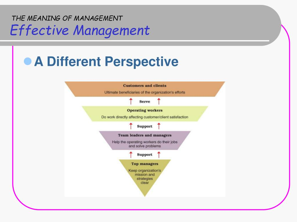 THE MEANING OF MANAGEMENT