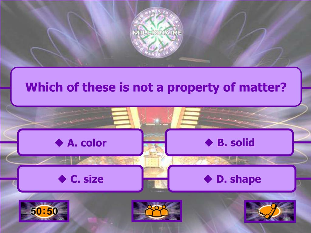 Which of these is not a property of matter?