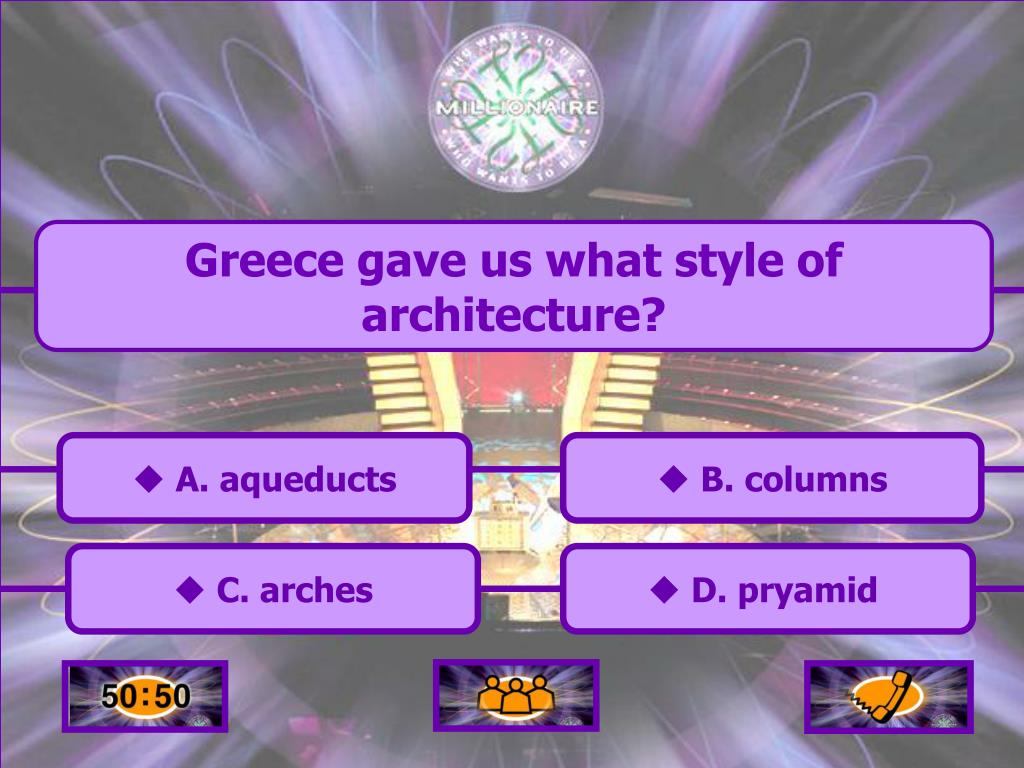 Greece gave us what style of architecture?