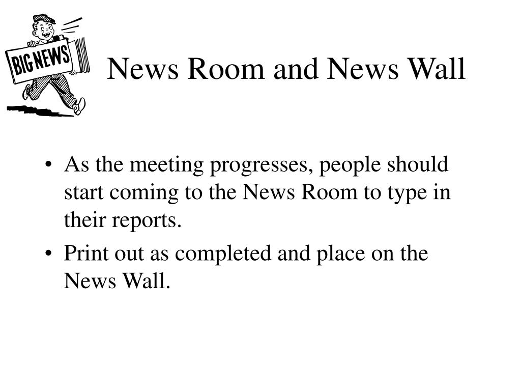 News Room and News Wall