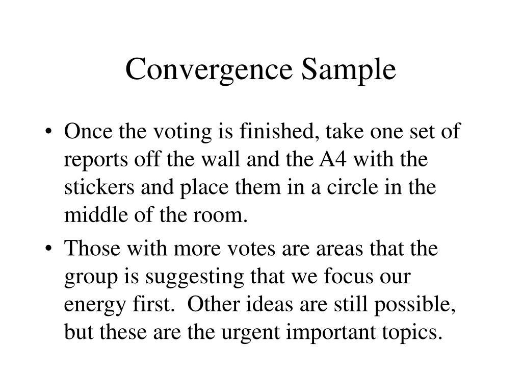 Convergence Sample