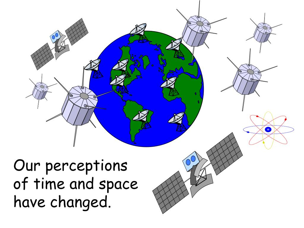 Our perceptions of time and space have changed.