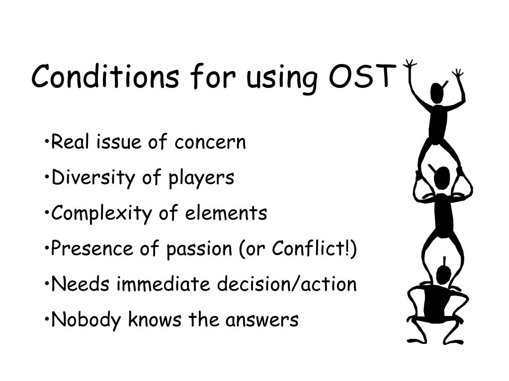 Conditions for using OST