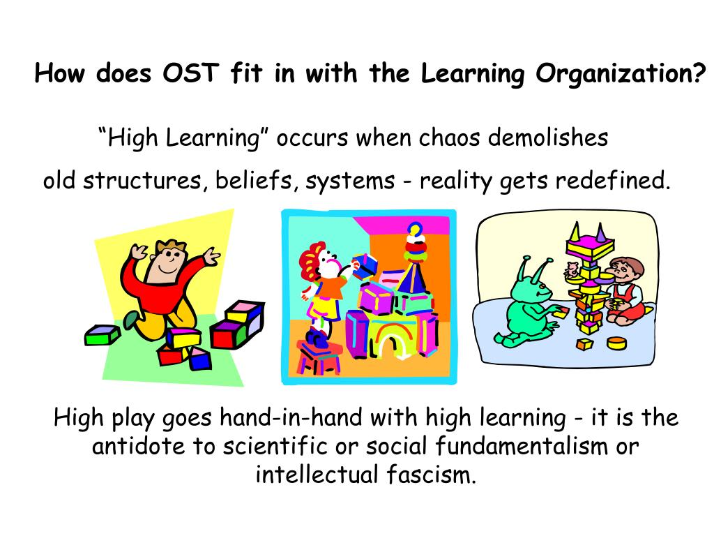 How does OST fit in with the Learning Organization?