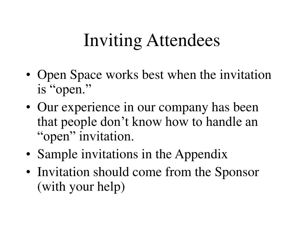 Inviting Attendees
