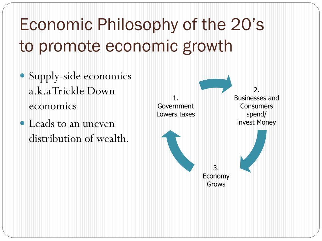 Economic Philosophy of the 20's