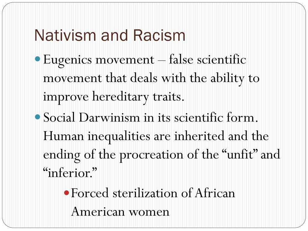 Nativism and Racism