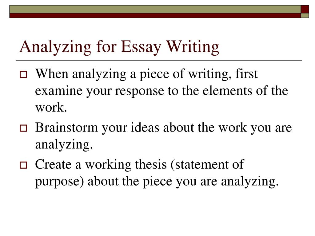steps to writing analytical essay