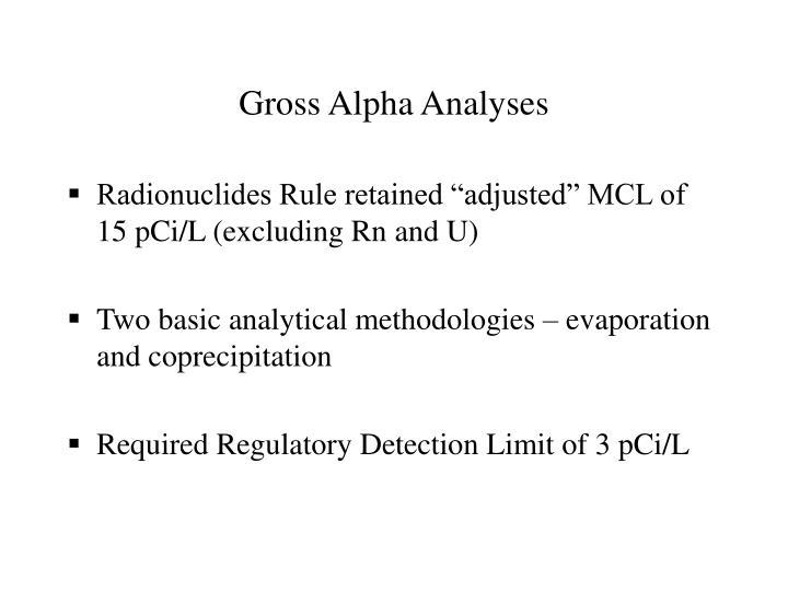 Gross Alpha Analyses
