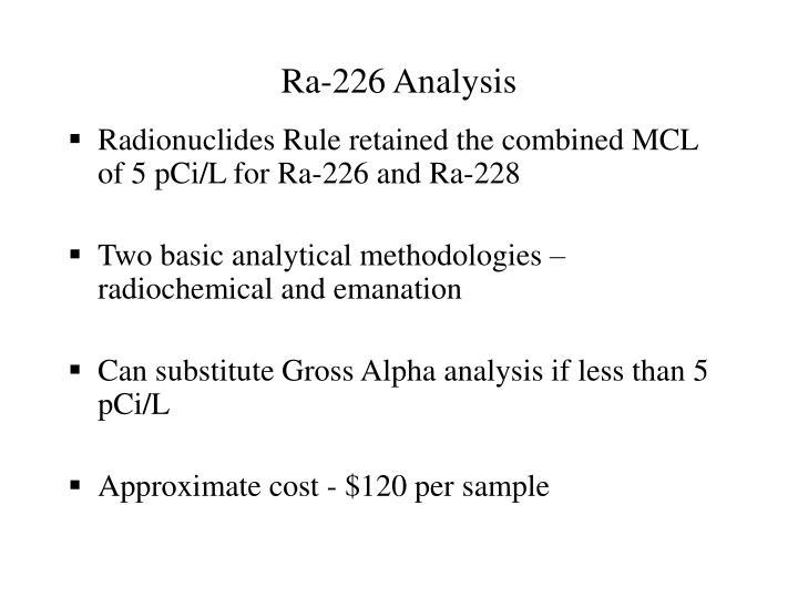 Ra-226 Analysis