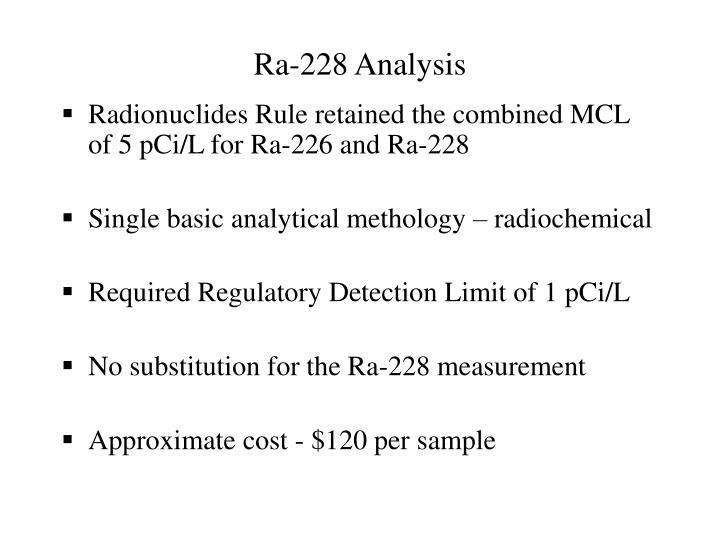 Ra-228 Analysis