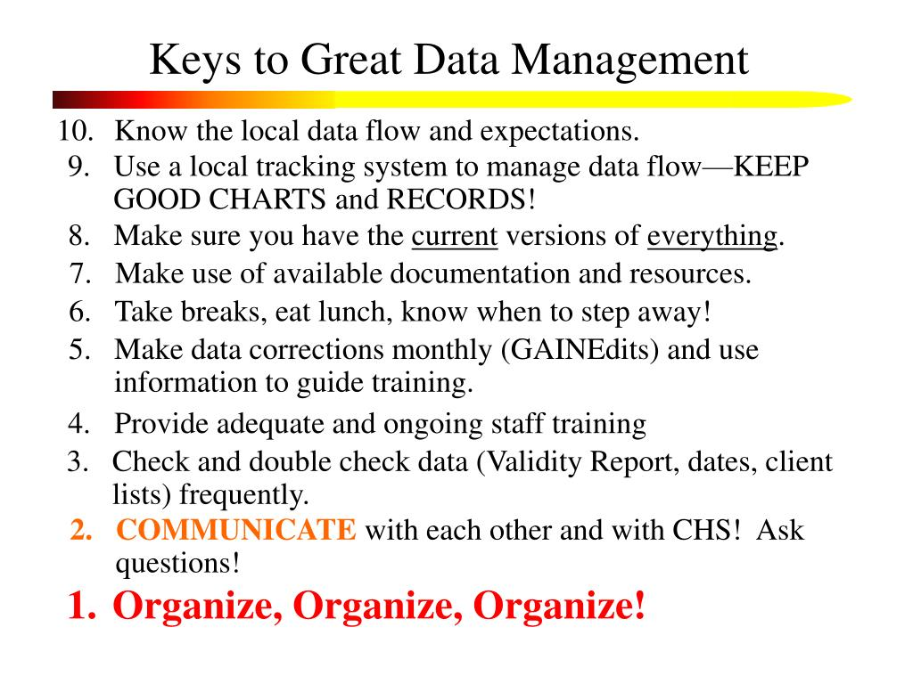 Keys to Great Data Management