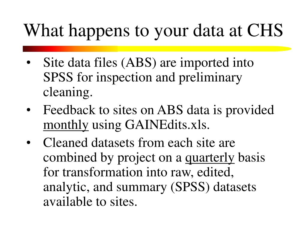What happens to your data at CHS