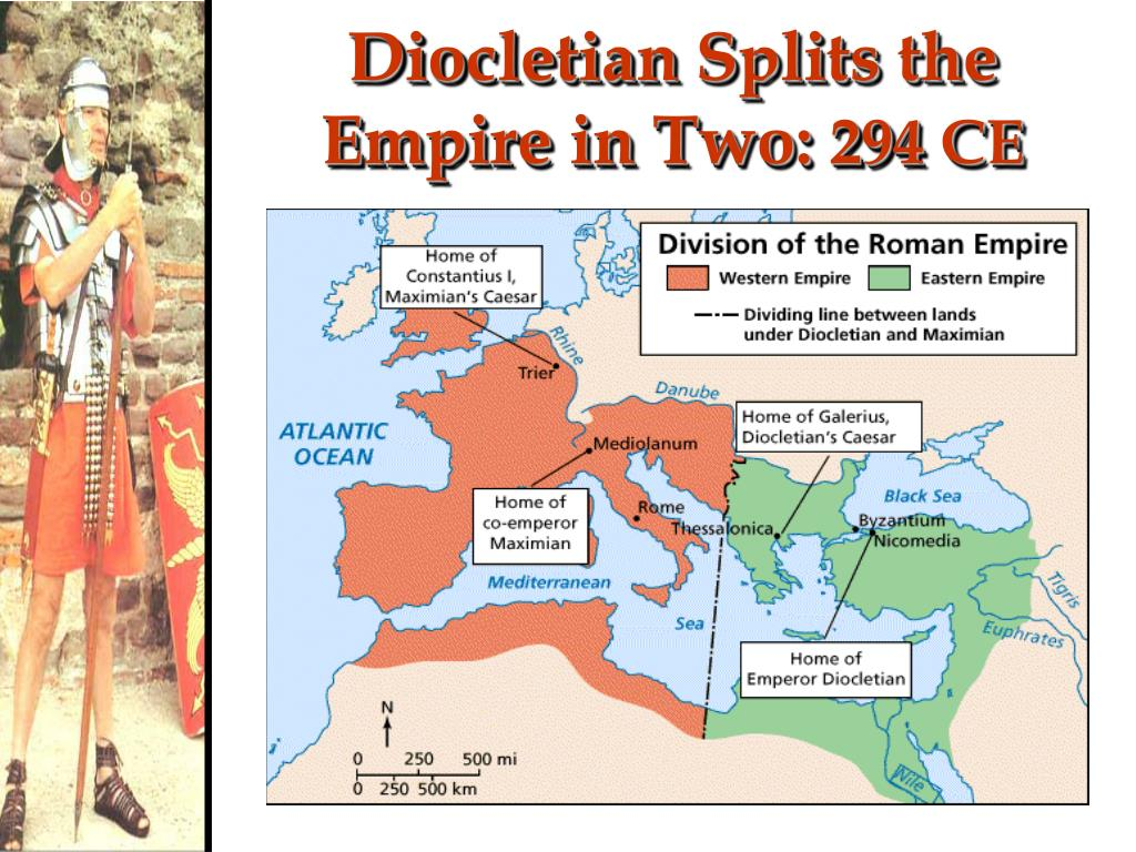 Diocletian Splits the Empire in Two: